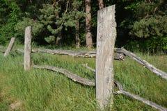 Stary wiejski drewniany ogrodzenie zdjęcie royalty free