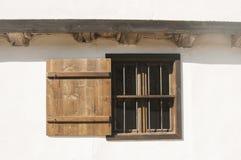 Stary wiejski drewniany okno zdjęcia royalty free