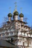 Stary wierzący świątyni St Nicholas na Posada kolomna Kremlin Russia zdjęcia stock