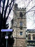 Stary wierza w jesieni w Londyn Zdjęcie Stock