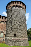 Stary wierza w Mediolan obrazy stock