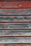 stary wietrzejąca czerwona i szara stajni deska Fotografia Royalty Free