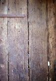 Stary wietrzejący dębowy drzwi zakończenie up Obraz Stock