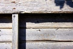 Stary wietrzejący drewniany barłóg Obraz Royalty Free