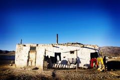 Stary Wietrzejący Domowy pasma górskiego tła pojęcie Fotografia Stock