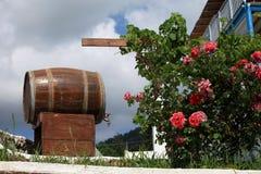 Stary wino barrelwaiting Zdjęcie Stock