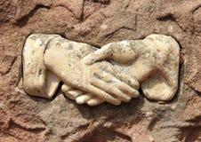 Stary wizerunek chwianie ręki w marmurze obraz royalty free