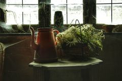 Stary wnętrze zaniechany dom obrazy royalty free