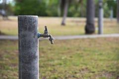 Stary wodny klepnięcie w parku zdjęcie royalty free