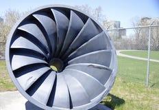 Stary Wodny Turbinowy mechanizm używać wytwarzać Wodną elektryczność Fotografia Stock