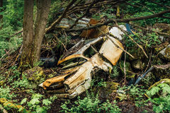 stary wrak samochodowy Obraz Royalty Free