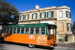 stary wycieczek turysycznych miasteczka tramwaj Zdjęcie Royalty Free