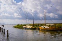 stary wypłynięcia statku Fotografia Royalty Free