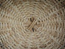 Stary wyplatający drewniany kurenda wzór zdjęcie stock