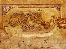 Stary wzór na ściennym Sukhothai, Tajlandia Zdjęcie Stock