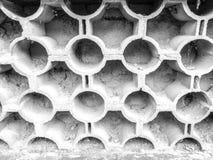 Stary wzorcowy cegły ogrodzenia ściany wzór Fotografia Stock