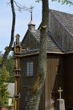 Stary ximpx drewniany kościół w Lithuania Obrazy Stock