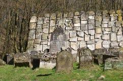 Stary Żydowski cmentarz w Kazimierz Dolny, Polska Obrazy Stock