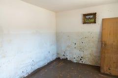 Stary Żywy pokój Niszczący Od powodzi zdjęcia royalty free