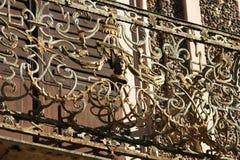 Stary złoty Balkonowy poręcz Zdjęcie Royalty Free