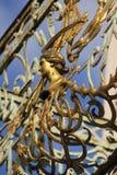 Stary złoty Balkonowy poręcz Fotografia Stock