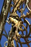 Stary złoty Balkonowy poręcz Obrazy Royalty Free