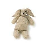 Stary zabawkarski królik dziający odizolowywającym Zdjęcia Stock