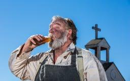 Stary zachód Pijący napoje zdjęcia stock