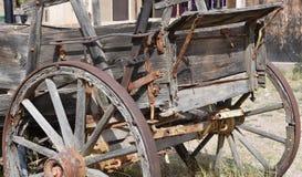 Stary zachodni buckboard furgon w nagrobku Arizona obrazy stock