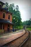 stary zajezdnia pociąg zdjęcia royalty free