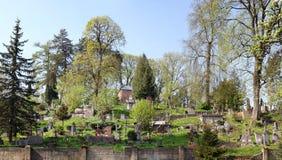 Stary zamknięty militarny cmentarz w Antakalnis okręgu Obrazy Stock