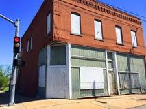 Stary zamknięty sklepu spożywczego wczesny poranek 01 Obrazy Royalty Free