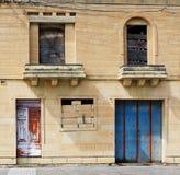 Stary zaniechany budynek, czerepu stary zaniechany budynek fotografia Fotografia Stock