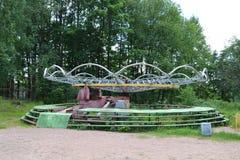 Stary zaniechany carousel Fotografia Royalty Free