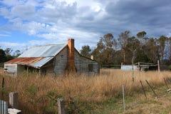 Stary zaniechany dom w Tasmania Fotografia Stock