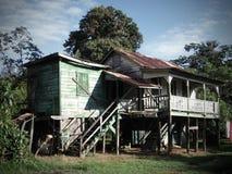 Stary zaniechany drewniany dom, Belize Fotografia Stock