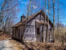Stary Zaniechany kościół w Virginia obraz stock