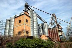 Stary zaniechany przemysłowy kompleks Obrazy Royalty Free