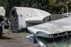Stary zaniechany samolot w Chiang Mai, Tajlandia 2 obrazy royalty free
