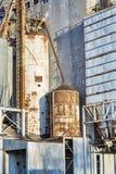 Stary zbożowej windy abstrakt Obrazy Stock