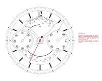 stary zegar royalty ilustracja