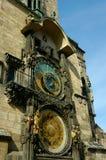 stary zegar astronomiczne kwadratowego miasta obrazy stock