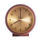 stary zegar odosobnione white Zdjęcia Royalty Free