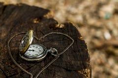 Stary zegar, romantyczny Zdjęcia Royalty Free