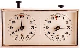 stary zegar w szachy mechaniczne Obraz Royalty Free