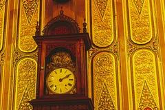 Stary zegar w Tajlandia świątyni Zdjęcie Stock
