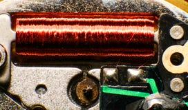 Stary zegarka mechanizm, makro- Zdjęcia Stock