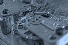 Stary Zegarowego zegarka mechanizm Z przekładniami Zdjęcia Royalty Free