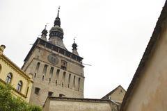 Stary zegarowy wierza, Sighisoara, Rumunia Fotografia Royalty Free