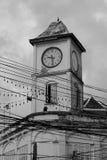 Stary Zegarowy wierza w Phuket miasteczku fotografia stock